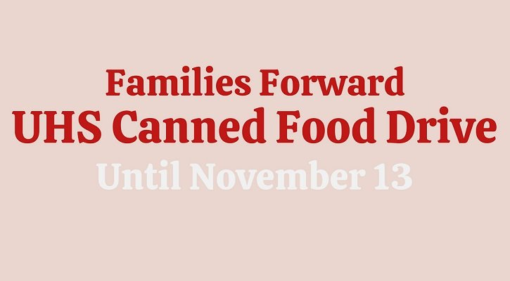 Families Forward canned food drive